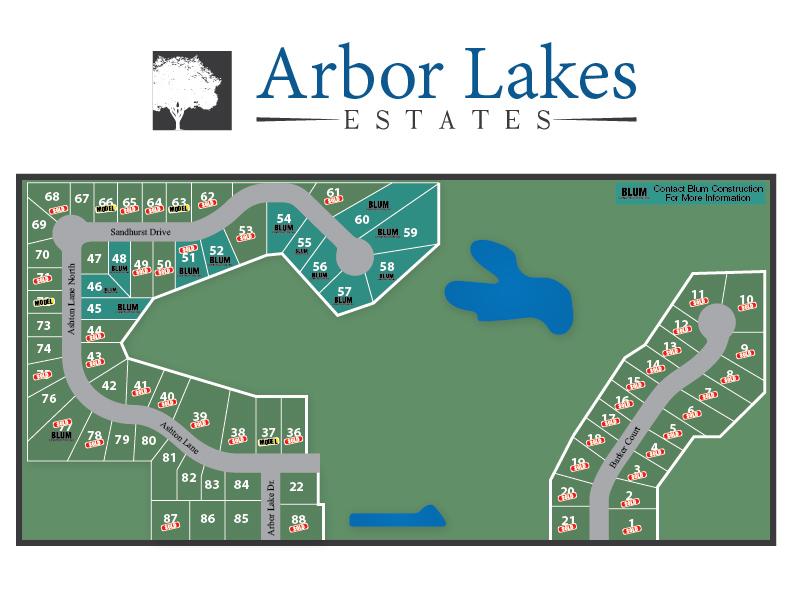 Arbor Lakes Estates Map-01