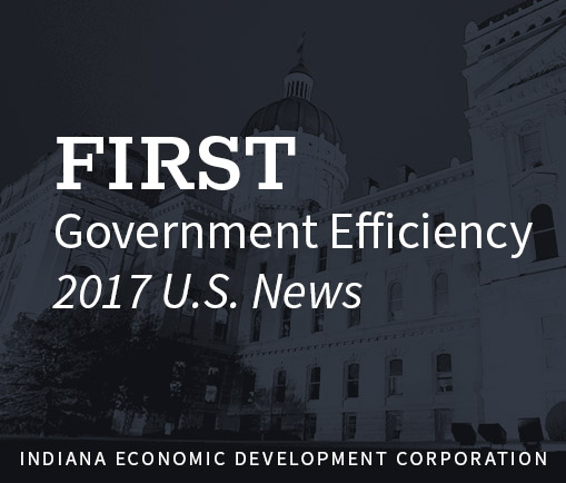 First in government efficiency