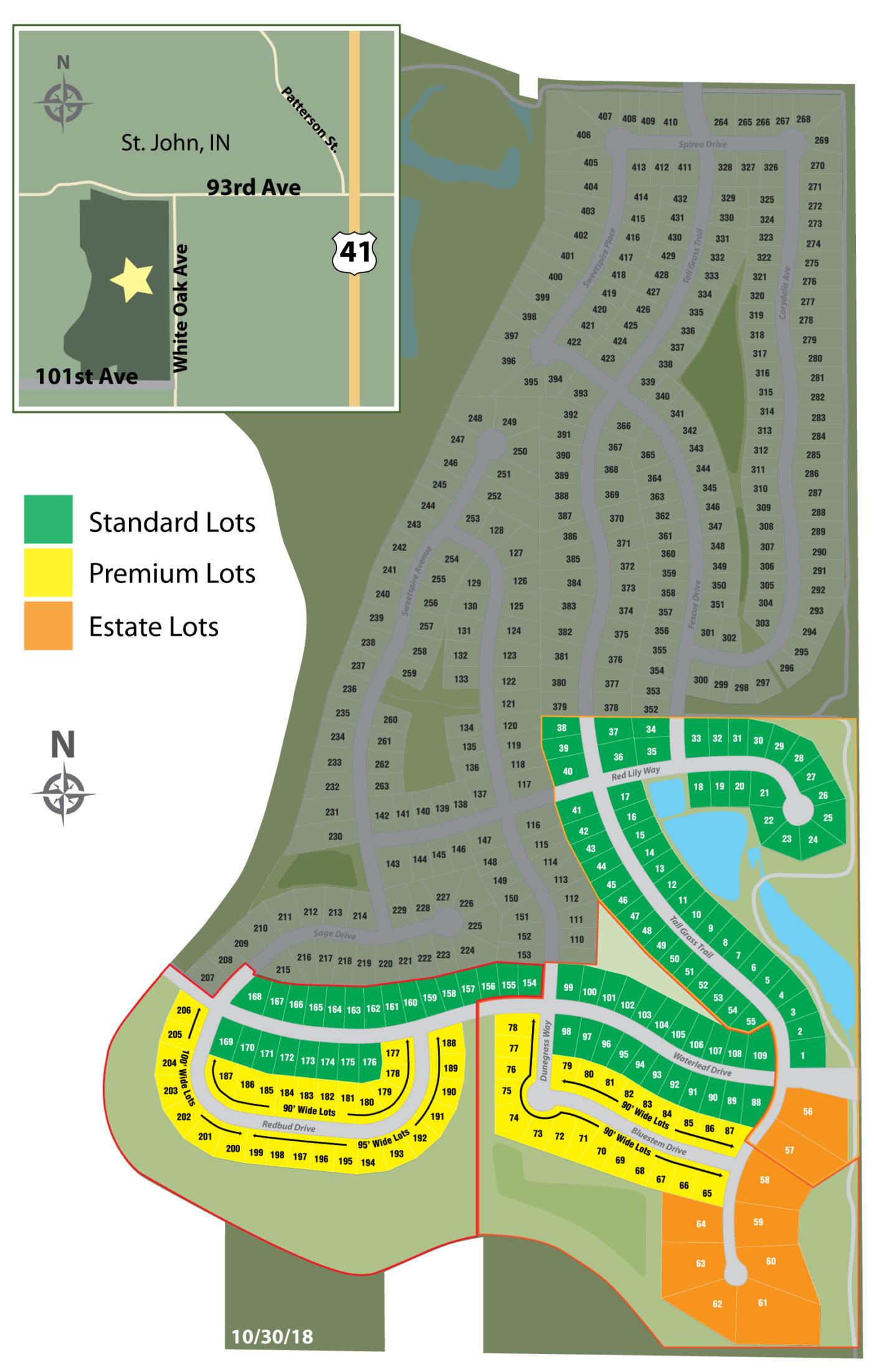 Preserve Lot Map